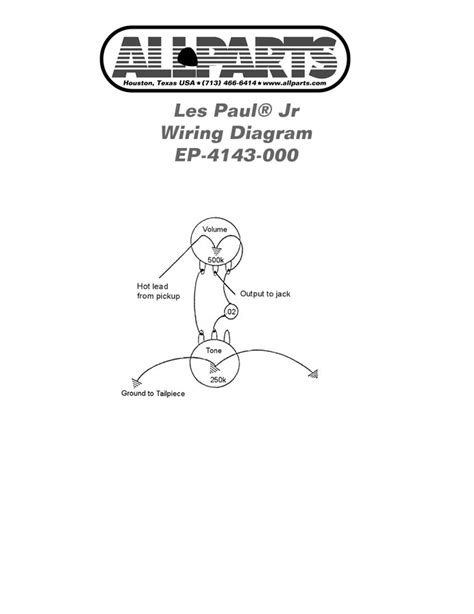 wiring kit for les paul sg jr allparts