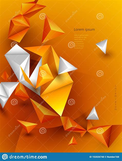 Abstract 3D Geometric Polygon Triangle Pattern Shape