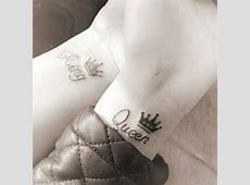 Matching Couple Tattoo King And Queen Printablehd