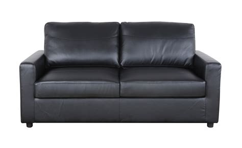 Black Bonded Leather Sleeper  Pull Out Sofa And Bed Ebay