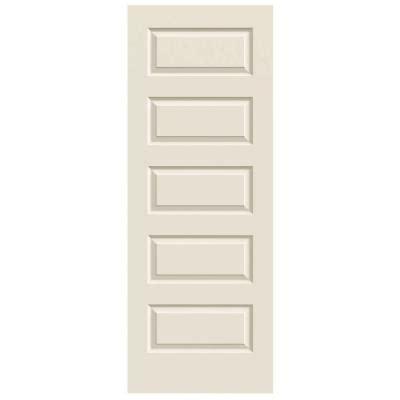 hollow interior doors home depot jeld wen 32 in x 80 in molded smooth 5 panel primed