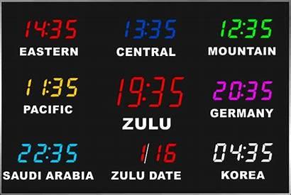 Zone Clock Multi Digital Zones Clocks Brg