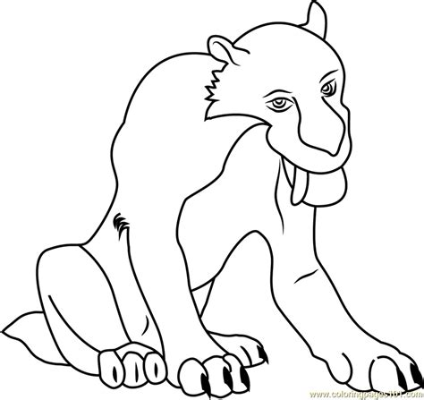 diego smilodon coloring page  ice age coloring pages coloringpagescom