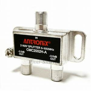2pc Cable Tv Splitter 2 Way Coax Signal Split Antenna Rg6