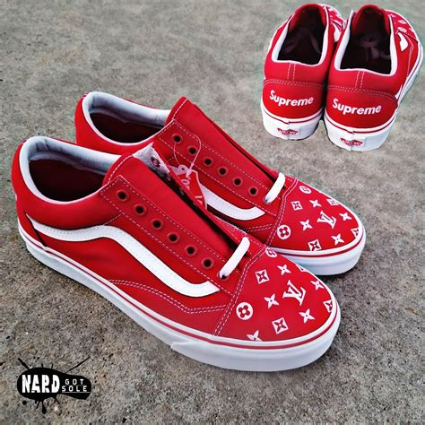 Amac Customs Big Cartel 91 Custom Supreme Vans Vans Supreme All White Custom