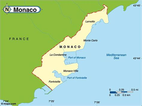 destination monaco travel  tourist information map