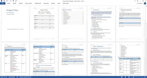 project plan template  ms word excel forms