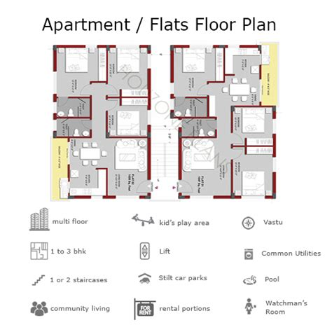 in apartment floor plans apartment building floor plans for 2 or 3 bhk flats on a