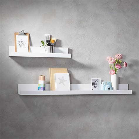 White Shelves On Wall by Piano White Wall Shelves Cb2