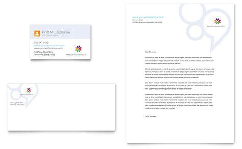 medical insurance business card letterhead template