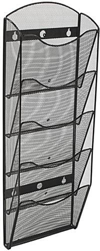 hanging magazine rack hanging mesh magazine rack dividers included