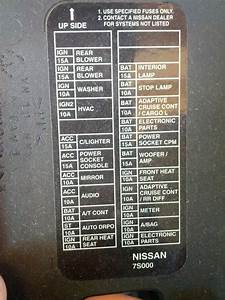 7844e Call Out Nissan Fuse Box Diagram
