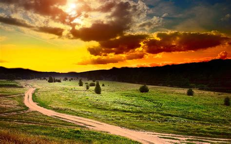 Sunset Pictures Landscape  Hd Desktop Wallpapers  4k Hd