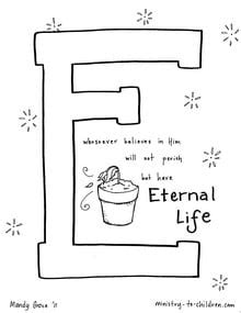 eternal life coloring page ministry  children