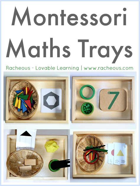 montessori maths trays racheous lovable learning