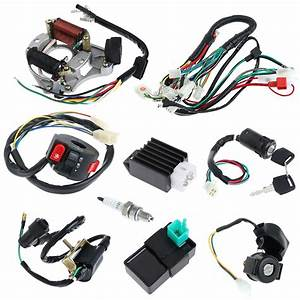 Cdi 50  70  90  110cc Wire Harness Assembly Wiring Set Atv Electric Quad Coolster 665975652960