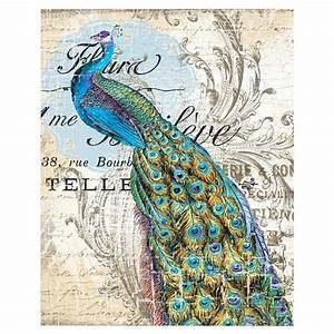 peacock wall art ii color pinterest With peacock wall art