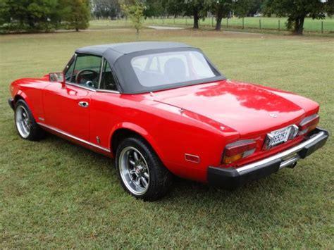 1982 Fiat Spider 2000 by 1982 Fiat 124 Spider Pininfarina 2000 Classic Fiat 124