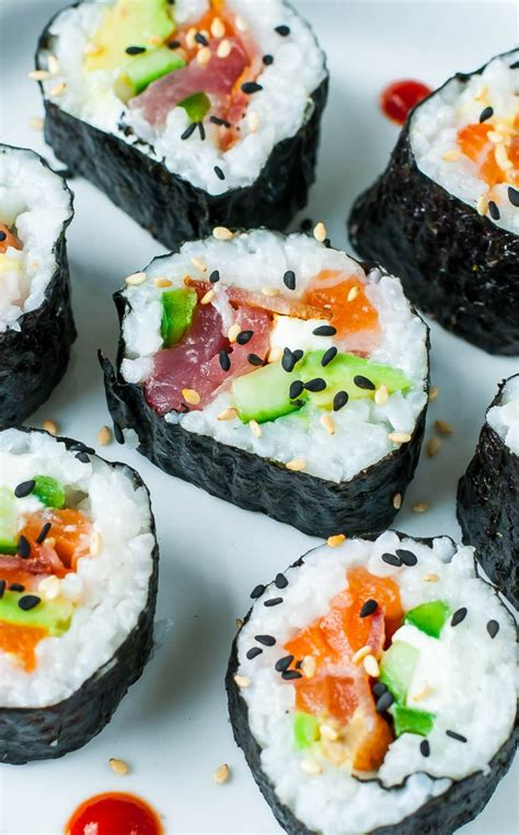 homemade sushi tips tricks  toppings peas  crayons