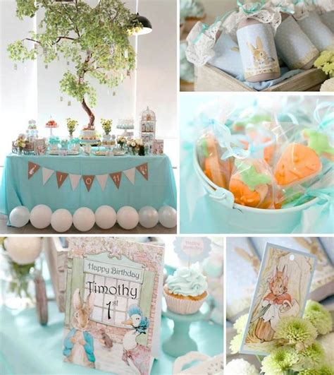 deco baby shower garcon kara s ideas rabbit themed 1st birthday with lots of really ideas via