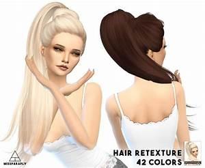 Sims 4 Hairs Miss Paraply Skysims Hairs Retextured
