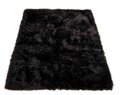 black fur rug black rectangle fur rugs faux fur rugs