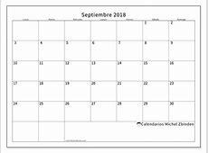 Calendario para imprimir septiembre 2018 Horus México