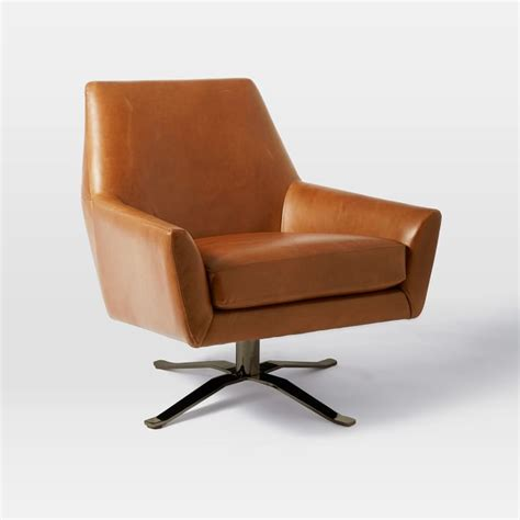Chairs Inspiring Leather Swivel For Living Room On