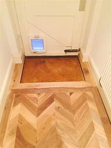 walnut chevron floor up to doorway parquet flooring by With chevron parquet flooring