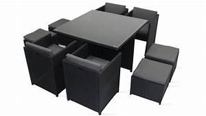 Promo Salon Jardin : salon de jardin en r sine fauteuil encastrable ~ Teatrodelosmanantiales.com Idées de Décoration