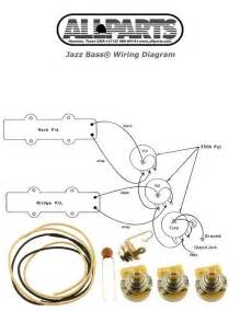 New Jazz Bass Pots Wire Wiring Kit For Fender Jazz Bass