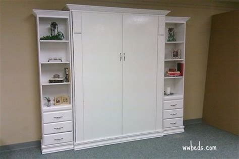 White Murphy Bed by White Contempo Murphy Bed Custom By Chris Davis