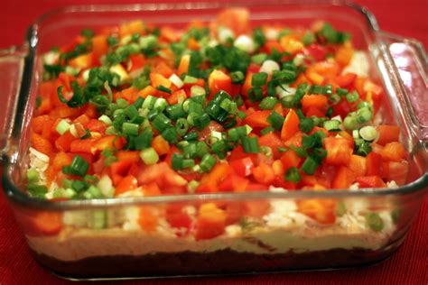layered dip seven layer dip recipes dishmaps