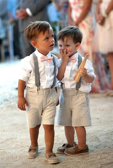wedding ring bearers adorable ring bearers in loafers suspenders and bow ties