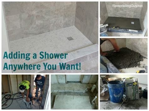adding a shower anywhere you want