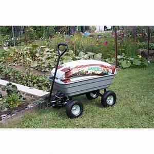 Caisse De Jardin : chariot de jardin 4 roues grand volume jardin et saisons ~ Teatrodelosmanantiales.com Idées de Décoration