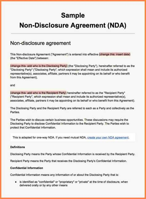 mutual  disclosure agreement template purchase