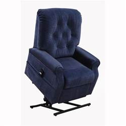 blue fabric power lift chair recliner free