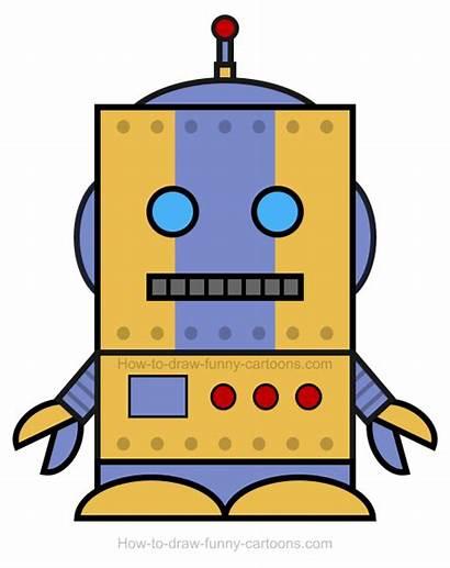 Robot Clipart Draw Robots Simple Cartoons Funny