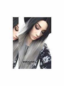 Haarfarbe Schwarz Grau : schwarz nach grau gerade synthetische lace front per cke sny079 home donalovehair ~ Frokenaadalensverden.com Haus und Dekorationen