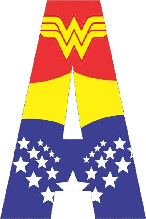 wonderwoman alphabet letters
