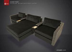 Cineak cosymo modular entertainment sofa modern for Sectional entertainment sofa