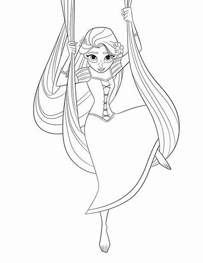 Tangled Rapunzel Coloring Pages Series Disney Ever