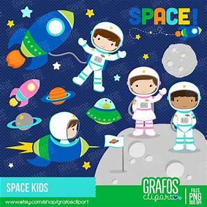 SPACE KIDS - Digital Clipart Set, Space Clipart ...