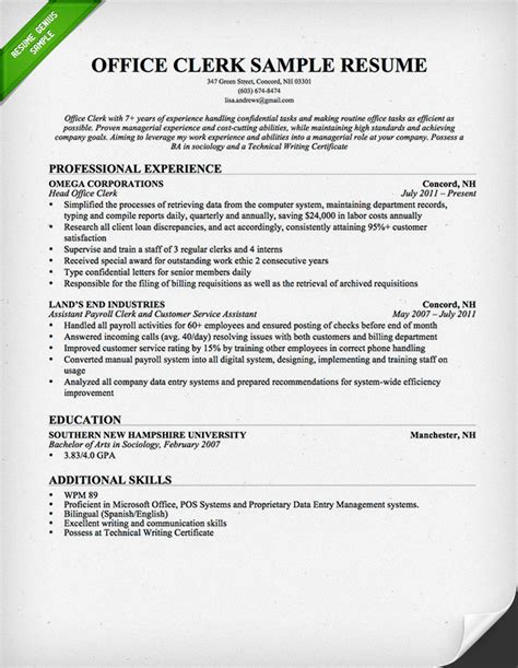 clerical duties resume 28 images office assistant