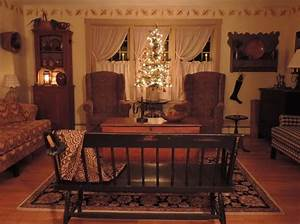 Primitive country living room ideas english us for Primitive country living room curtains