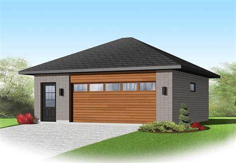 Contemporary Garage Designs by Contemporary 2 Car Detached Garage Plan 22345dr
