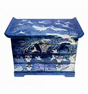 Boite A Bijoux Design : boite bijoux bleu aux decors asiatique de nacre ~ Melissatoandfro.com Idées de Décoration