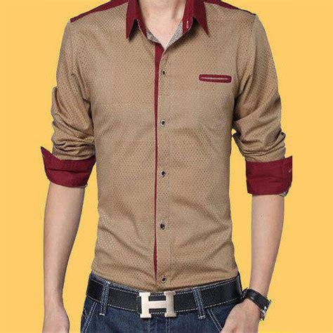 mens plain designer casual shirts size   rs