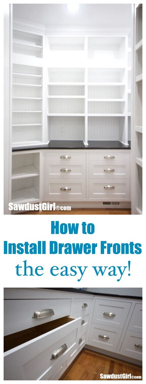 easy way to hang cabinets how to install cabinet drawer fronts the easy way http